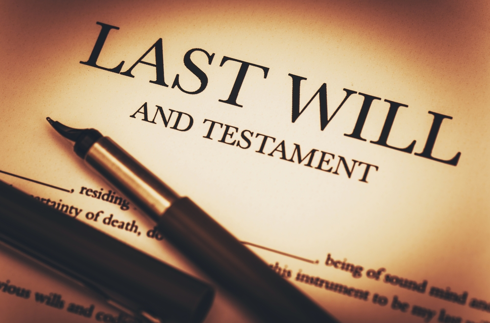 Image of Last Will and Testament ready to sign